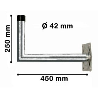 Wandhalter Stahl 45 cm Abstand 42 mm dick Feuerverzinkt