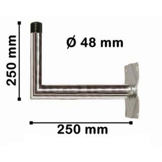 Wandhalter Stahl 25 cm Abstand 48 mm dick Feuerverzinkt