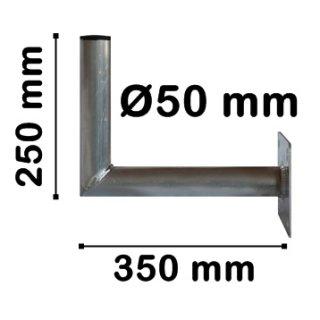 Wandhalter Alu 35 cm Wandabstand aus Aluminium Stabil