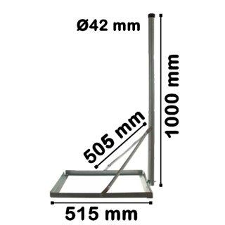 Balkonständer Stahl Verzinkt 50x50 mit 100 cm Mast