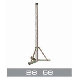 Kreuzfuß Balkonständer Ständer Flachdach mit 77 cm Mast & 48 mm Dicke