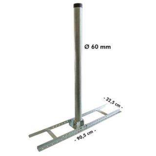 Aufdachhalter mit 60 mm Dicke + 1m Mast Sparren Halter Aufdach