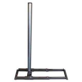 Aufdachhalter Rundrohr mit 60 mm Dicke + 1m Mast Sparren Halter Aufdach