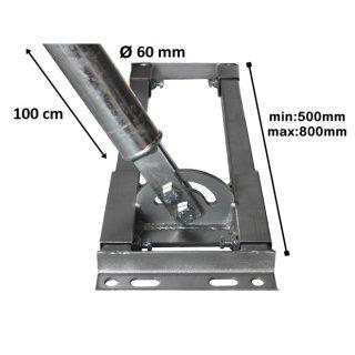 Aufdachhalter Sparren Halter mit 60 mm Mast ausgebautes Dach Aufdach