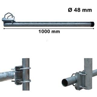 Balkonhalter Mast für Geländerhalter 48mm x 100cm (lang)