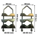 Mast Doppelschelle extra lang Mastschelle Universal Schelle
