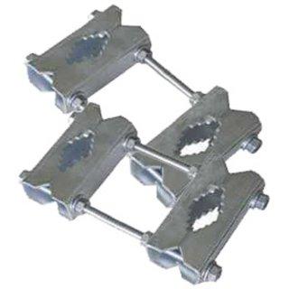 Mast Doppelrohrschnelle Stabil Doppel Rohr Schelle 20 cm