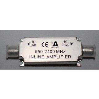 Verstärker Inline Amplifier 20 db bei langen Sat Koax Kabel In-Line