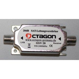 Octagon OSV 28 Inline Sat Verstärker 20 dB Gain Leitungsverstärker