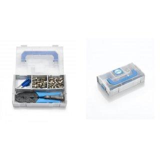 Wisi Montagekoffer Set mit Crimpstecker Crimpset DX 01 Montage Koffer