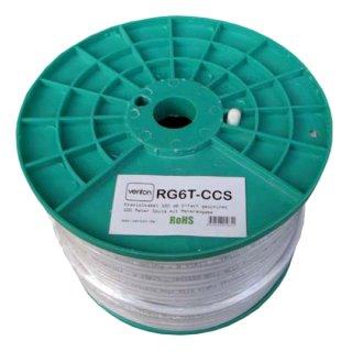 100m Koax Kabel Venton 100 dB RG6 Serie RG6T-CCS