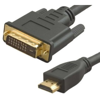 HDMI auf DVI-D Kabel Stecker 10 m HDTV HD vergoldet