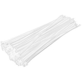100 Stück Kabelbinder 300 x 4,8 mm in Weiss