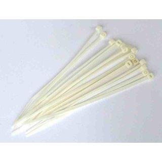 100 Stück Kabelbinder 250 mm x 3,6 mm in Weiss