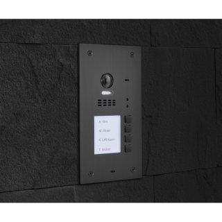 Balter EVIDA Graphit 4B RFID Edelstahl-Türstation für 4 Teilnehmer, 2-Draht BUS Technologie (Video / Audio / Strom), 170° Ultra-Weitwinkelkamera