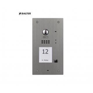 BALTER EVIDA Silver RFID Edelstahl-Türstation für 1 Teilnehmer, 2-Draht BUS Technologie (Video / Audio / Strom), 170° Ultra-Weitwinkelkamera