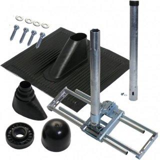 Dachsparren-Montageset für Antennen bis 100 cm in schwarz