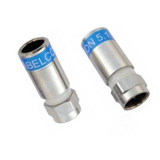 10x Stück Cabelcon F 56 CX3 7.0 QM Quick Mount Stecker für RG6 7 mm Kabel WASS