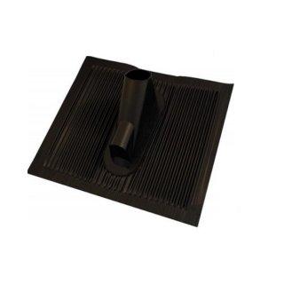 Alu Dachziegel Schwarz mit Kabeldurchführung Dachpfanne