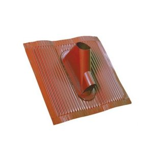Alu Dachziegel Rot mit Kabeldurchführung Dachpfanne
