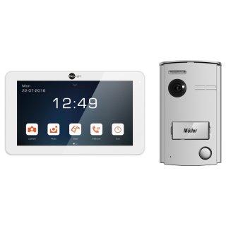 """NeoLight 2-Draht Video-Türsprechanlage mit 7"""" Touchscreen-Monitor + Türstation mit 120° Weitwinkel-Kamera, Nachtsicht, Türöffner"""