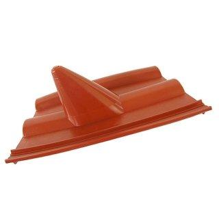 Dachabdeckung Frankfurter Dachpfanne Dachziegel Rot Sat Dach Montage