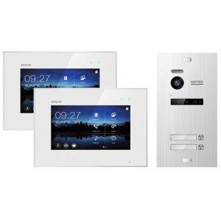 """Balter EVO SILVER Video-Türsprechanlage 7"""" Touchscreen 2-Draht BUS Komplettsystem für 2 Teilnehmer"""