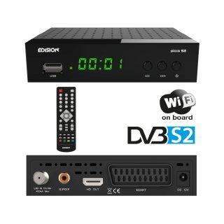 EDISION PICCO S2 Full HD SAT Receiver (1x DVB-S2, WLAN, USB, HDMI, SCART, S/PDIF, IR Auge, Kartenleser