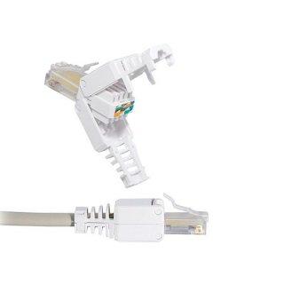 10  x  CAT 5/6/7 Tool-less RJ45 Stecker mit Knickschutz Werkzeuglose montage